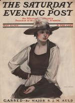 ORIG VINTAGE MAGAZINE COVER/ SATURDAY EVENING POST - MAY 25 1918by- McMein (Illust.), Neysa, Illust. by: Neysa  McMein - Product Image