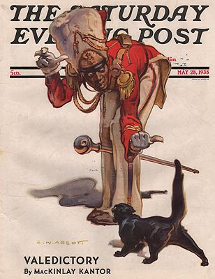 ORIG VINTAGE MAGAZINE COVER/ SATURDAY EVENING POST - MAY 28 1938illustrator- S.N.  Abbott - Product Image