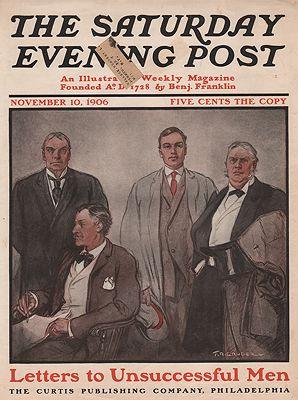 ORIG VINTAGE MAGAZINE COVER/ SATURDAY EVENING POST - NOVEMBER 10 1906illustrator- F.R.  Gruger - Product Image