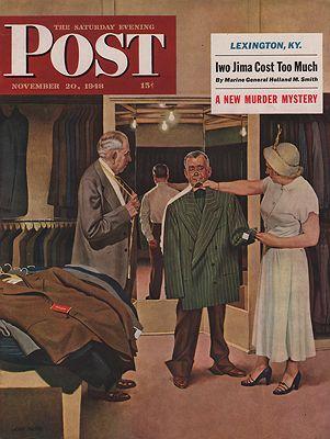 ORIG VINTAGE MAGAZINE COVER/ SATURDAY EVENING POST - NOVEMBER 20 1948by: Falter (Illust.), John - Product Image