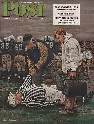 ORIG VINTAGE MAGAZINE COVER/ SATURDAY EVENING POST - NOVEMBER 25 1950illustrator- Stevan  Dohanos - Product Image