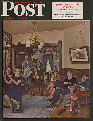 ORIG VINTAGE MAGAZINE COVER/ SATURDAY EVENING POST - NOVEMBER 30 1946by: Falter (Illust.), John - Product Image