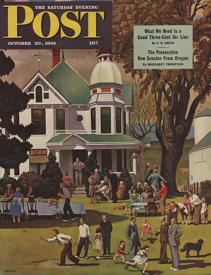 ORIG VINTAGE MAGAZINE COVER/ SATURDAY EVENING POST - OCTOBER 20 1945by: Falter (Illust.), John - Product Image