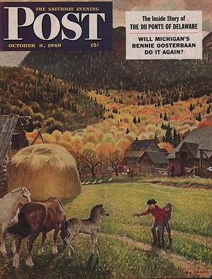 ORIG VINTAGE MAGAZINE COVER/ SATURDAY EVENING POST - OCTOBER 8 1949by: Clymer (Illust.), John - Product Image