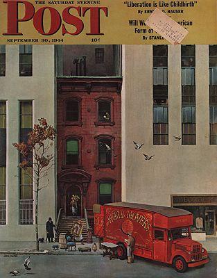ORIG VINTAGE MAGAZINE COVER/ SATURDAY EVENING POST - SEPTEMBER 30 1944by: Falter (Illust.), John - Product Image