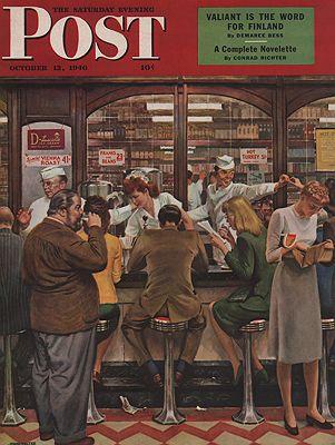 ORIG VINTAGE MAGAZINE COVER/ SATURDAY EVENONG POST - OCTOBER 12 1946by: Falter (Illust.), John - Product Image