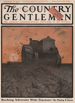 ORIG VINTAGE MAGAZINE COVER/ THE COUNTRY GENTLEMAN - JANUARY 28 1922illustrator- Harvey  Dunn - Product Image