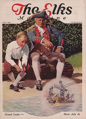 ORIG VINTAGE MAGAZINE COVER/ THE ELKS - JULY 1934illustrator- Ronald  McLeod - Product Image