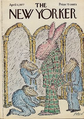 ORIG VINTAGE MAGAZINE COVER/ THE NEW YORKER - APRIL 11 1977by: Koren (Illust.), Ed - Product Image