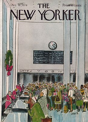 ORIG VINTAGE MAGAZINE COVER/ THE NEW YORKER - DECEMBER 16 1974illustrator- Charles  Saxon - Product Image
