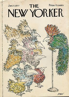 ORIG VINTAGE MAGAZINE COVER/ THE NEW YORKER - JANUARY 17 1977by: Koren (Illust.), Ed - Product Image