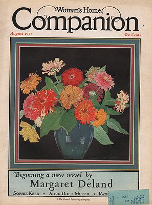ORIG VINTAGE MAGAZINE COVER/ WOMAN'S HOME COMPANION - AUGUST 1931illustrator- Elizabeth Lansdell  Hammell - Product Image