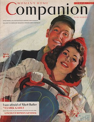 ORIG VINTAGE MAGAZINE COVER/ WOMAN'S HOME COMPANION - FEBRUARY 1940by: Henry (Illust.), Edwin - Product Image