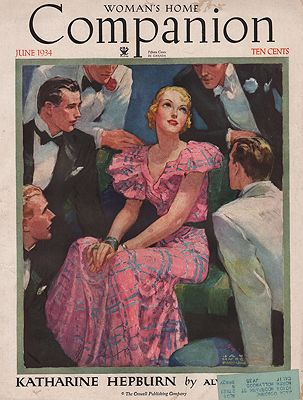 ORIG VINTAGE MAGAZINE COVER/ WOMAN'S HOME COMPANION - JUNE 1934illustrator- Jay Hyde  Barnum - Product Image