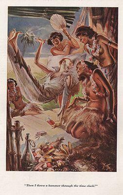 ORIG VINTAGE MAGAZINE ILLUSTRATION / ESQUIRE AUGUST 1934by: Shinn (Illust.), Everett - Product Image