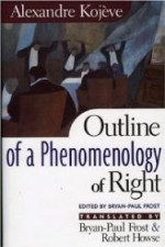 Outline of a Phenomenology of RightKojeve, Alexandre - Product Image