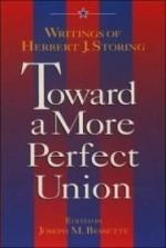 Toward a More Perfect Union: Writings of Herbert J. Storingby: Bessette, Joseph - Product Image